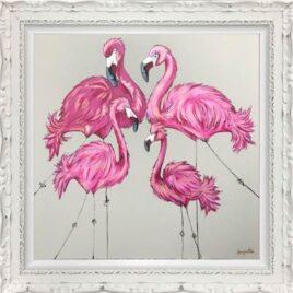 Be Flamingo In Flock Of Pig