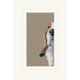 Peek A Boo, dog limited edition by Nicky Litchfield