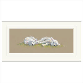 Spring Time Slumber, lambs limited edition print by Nicky Litchfield