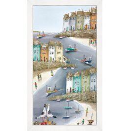 High and Dry I, Seagulls,Canvas Print,by Rebecca Lardner