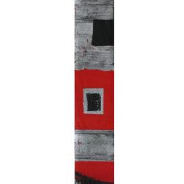 Red Aztec Panel Original By Linda Charles X