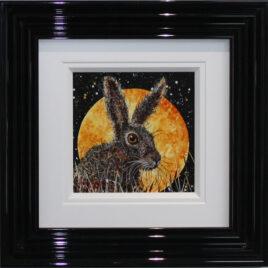 Hare in Moonlight, by Ruby Keller